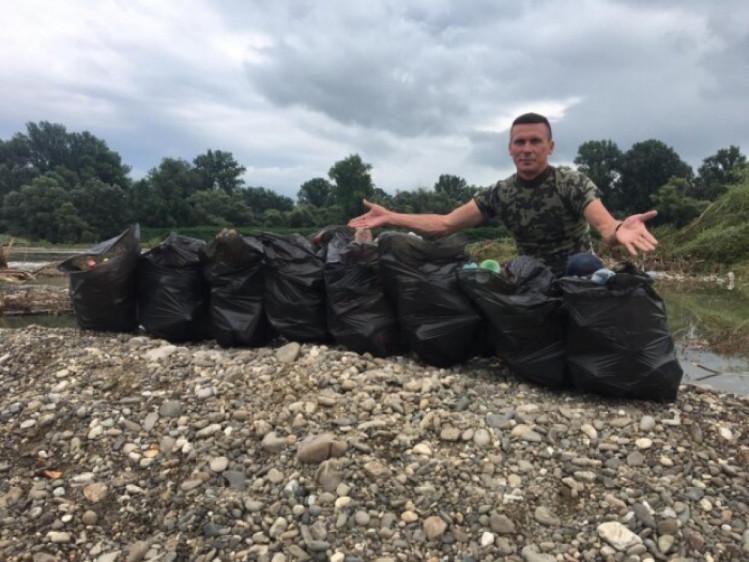 акція зі збору сміття на Закарпатті